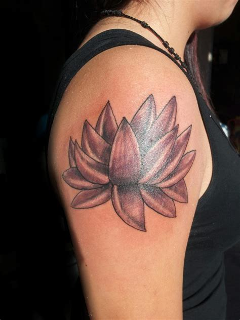 lotus flower tattoo on shoulder lotus images designs
