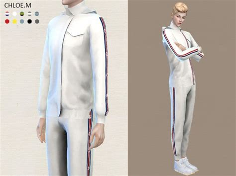 tsr sims 4 clothes sports the sims resource sports hoodie and shorts by chloemmm