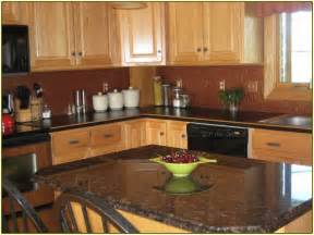 Dark Kitchen Cabinets With Light Countertops by Black Granite Countertops With Dark Cabinets Home Design