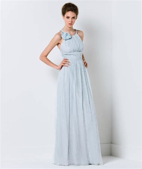 Light Blue Wedding Dress by Light Blue Wedding Dress With One Shoudler Neckline