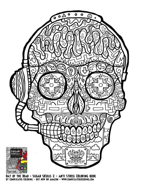 coloring pages for adults of skulls gamer sugar skull free printable coloring page