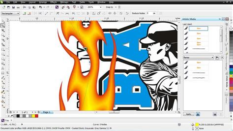 corel draw x6 use coreldraw x6 working with brushes video tutorial youtube