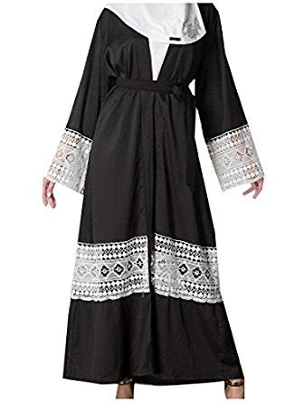 Dress Gamis Maxi Dress Muslim Baya Maxi pivaconis s sleeve solid colored fashion