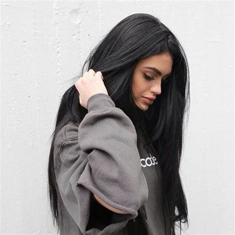 picture of long dark hair eith gray teverse frost best 25 black hair ideas on pinterest top black