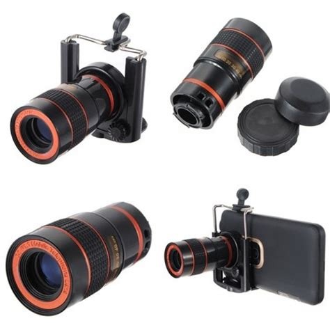 Telescope Universal Zoom 8x universal 8x zoom mobile phone telescope lens with clip from category mobile phone accessories
