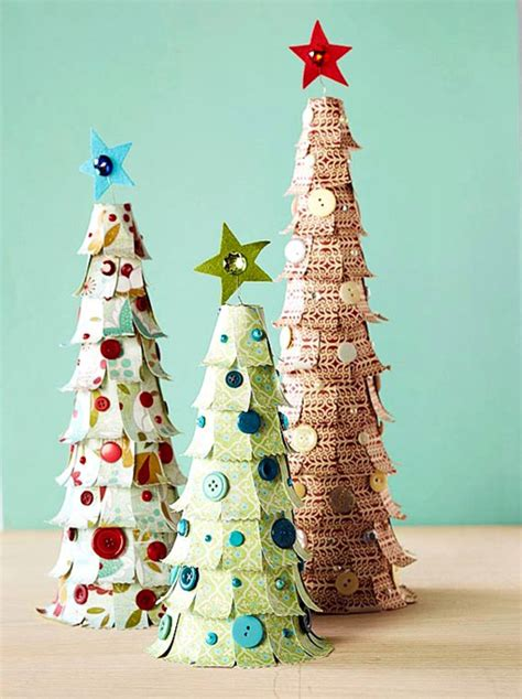 Paper Trees Craft - paper decorations sassaby