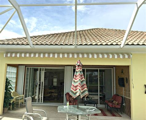 sunsetter awning installation sunsetter awning in verona walk naples fl