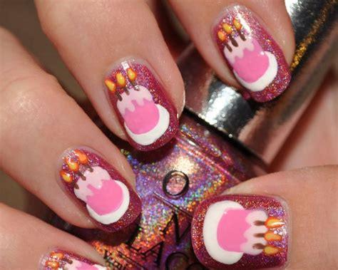 birthday themed nail art happy birthday theme nail art ideas trends for girls