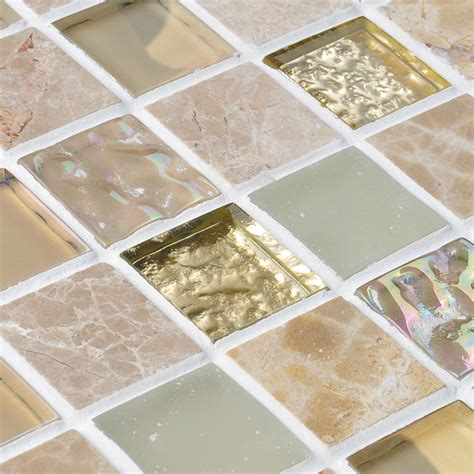 crystal mosaic tiles stone and glass blend mosaics