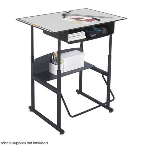 safco stand up desk safco alphabetter 24 quot x 36 quot student gray w book box computer desk ebay