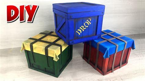 diy fortnite  fire  pubg drop box air drop