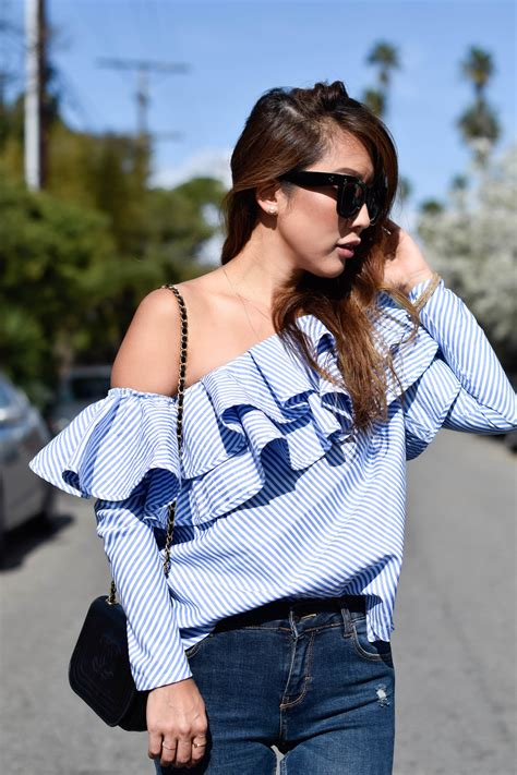 Blouse Los Angeles one shoulder ruffle blouse los angeles the cloud