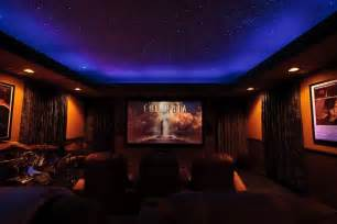 Home Theater Ceiling Color by Sky Ceiling Looks Like Cove Lighting And Glow Paint
