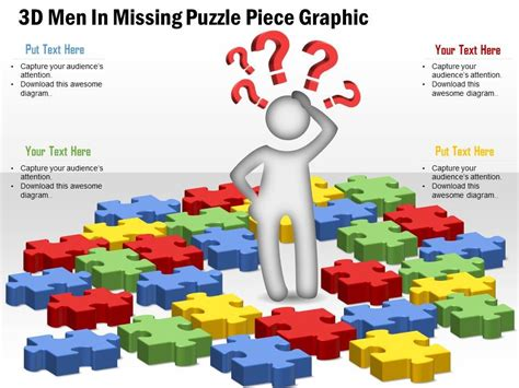 powerpoint template piece of puzzle missing problem and 0914 business plan 3d men in missing puzzle piece graphic