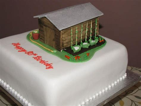 Shed Cakes by Garden Shed Cake For An 80th Birthday Exquisite Cakes