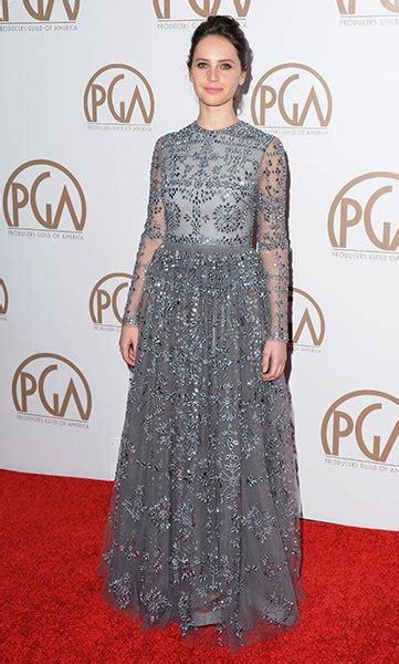 Greys Clouds At Pga Awards by Oscar Nominee Felicity Jones Best Style Moments Photo 8