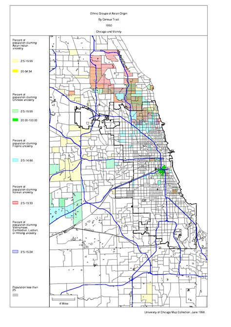 chicago ethnicity map map chicago asian population 80kb