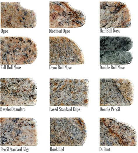 Granite Countertops Edge Styles by Rumford Granite Countertops Nh
