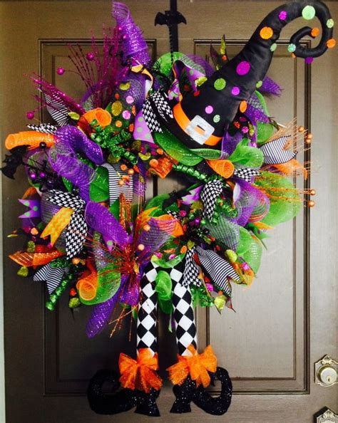 halloween wreath cute diy witch wreath tutorials ideas for halloween hative