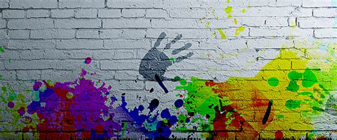 Graffiti Background Handprint Pomo Colorful Shading Background Image For Free Download Graffiti Powerpoint Template