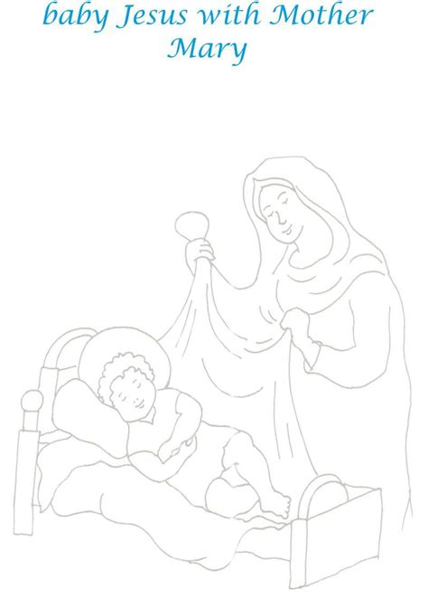 free coloring pages of mother mary