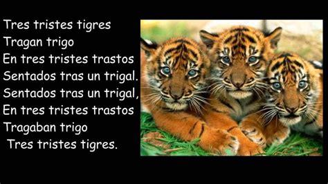 imagenes de tres tristes tigres de los tres tristes tigres trabalenguas trabalenguas