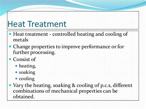 heat treatment process for steel chapter3 metal work processes and heat treatment