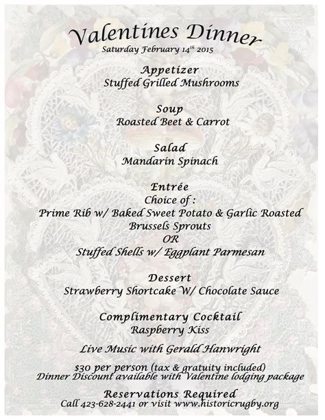 valentines day 2015 dinner special valentine s day dinner historic rugby