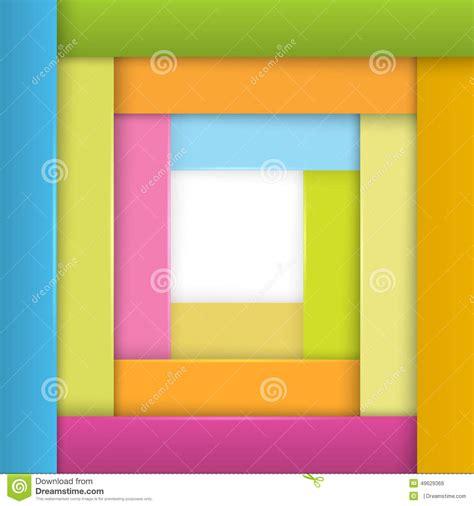 frame design mag frame strips of paper stylish design element stock vector