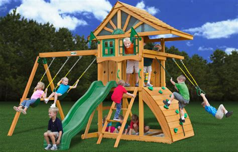 clearance swing sets lowest price gorilla ovation playset swingset paradise