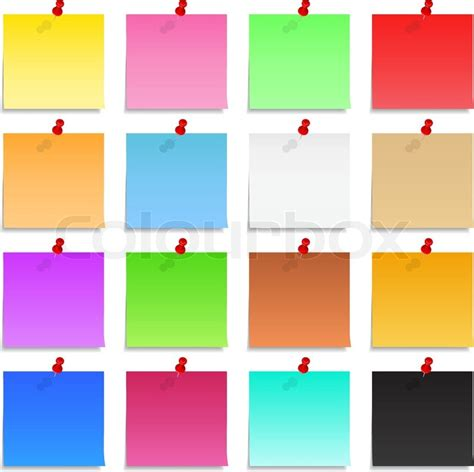 post it notes stock vector colourbox