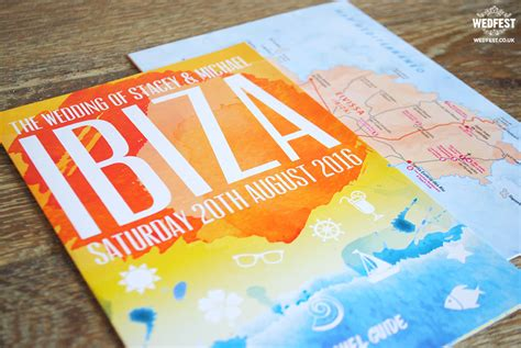 Travel Brochure Wedding Invitation by Ibiza Travel Brochure Wedding Invitation Wedfest