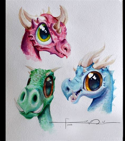 cute dragon tattoos watercolor dragons by imaginesto on deviantart