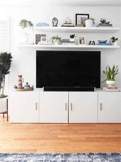 ikea tv cabinet hack ikea besta tv stand hack with two lack shelves above natasha habermann studio pinterest