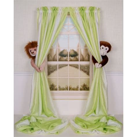 Shopping Baby Nursery Bedding Sets One Curtain Critters Monkey Curtains Nursery