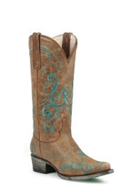 cowboy boots teal and brown boots