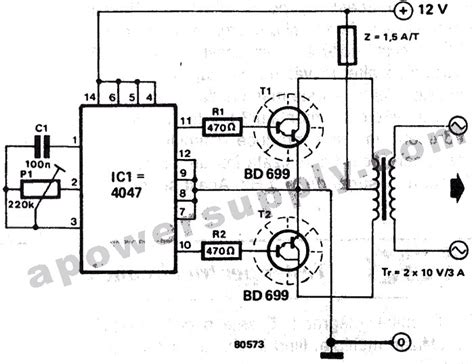 simple inverter circuit 12vdc 220vac circuit wiring