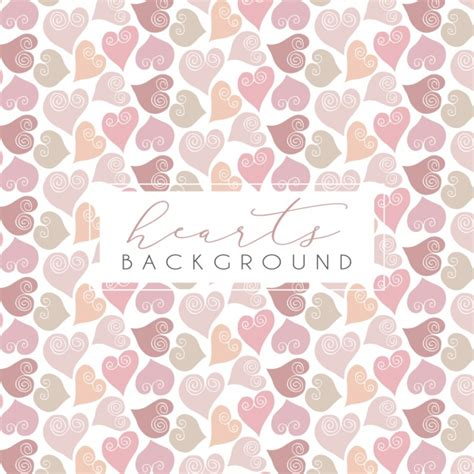 heart pattern free vector hearts pattern design vector free download