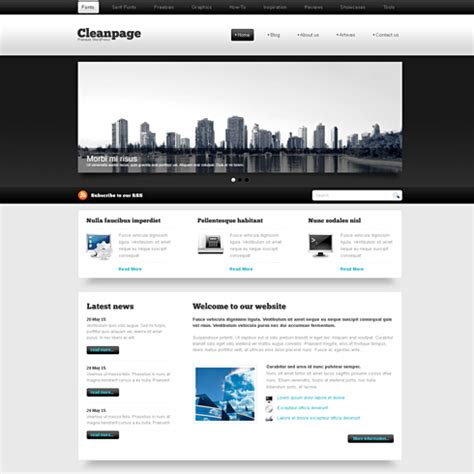 blackwhite xhtml template web blog corporate css