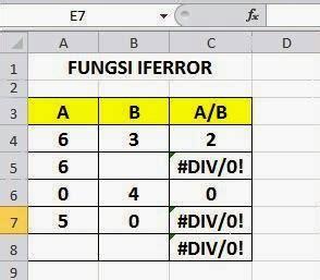 tutorial belajar microsoft xl menggunakan fungsi iferror belajar microsoft excel share