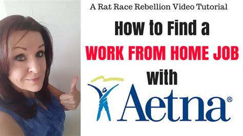 how to find a work from home with aetna real work