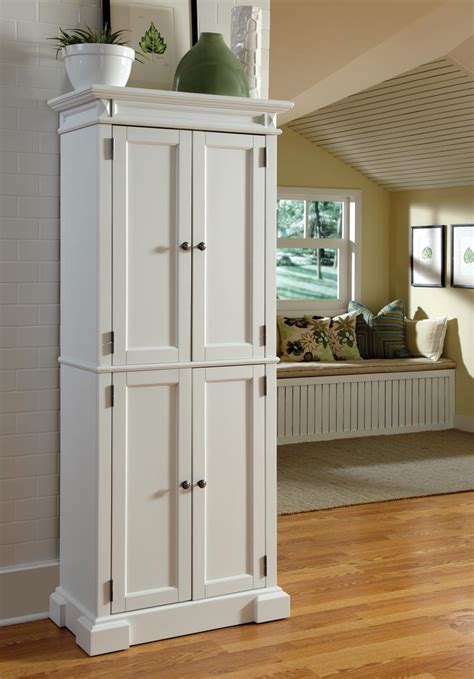free standing kitchen pantry cabinet adding an elegant kitchen look with white kitchen pantry