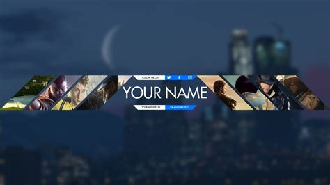 youtube banner gaming template download youtube gaming banner template 2017 best business template