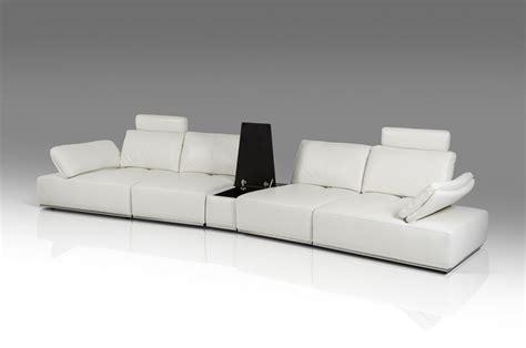 large white leather sectional divani casa hibiscus modern white italian leather large