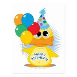 happy birthday duck cards happy birthday duck card templates postage invitations photocards