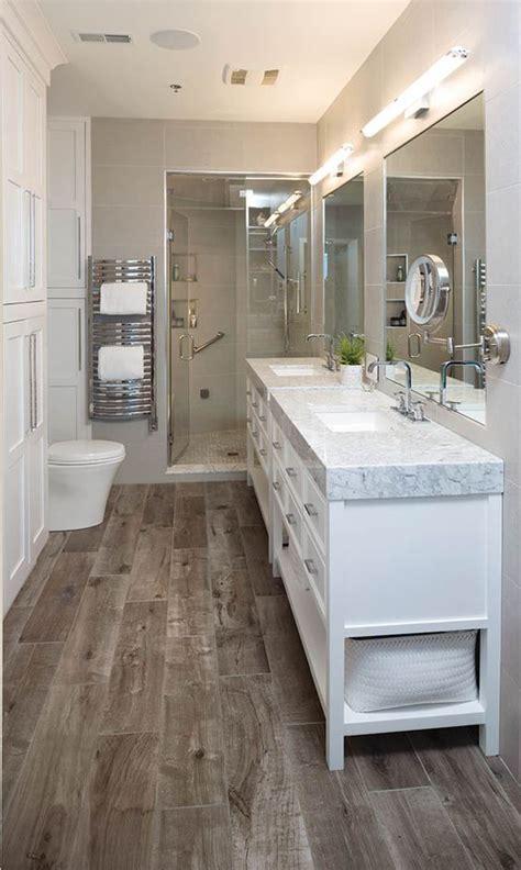 stylish ways  add rustic touches   bathroom shelterness