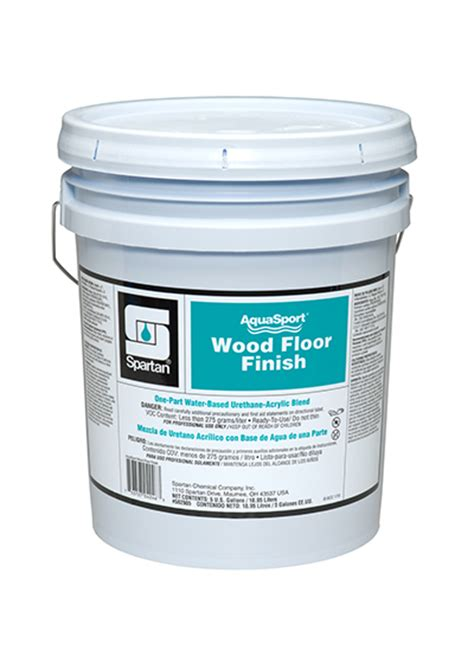 aquasport wood floor finish spartan chemical