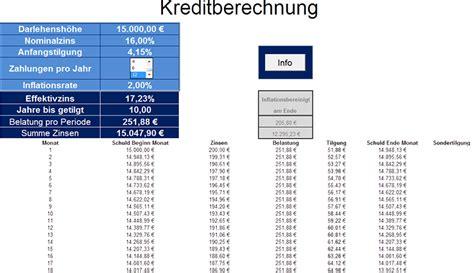 kreditberechnung excel freeware unternehmensberatung freeware kreditberechnung