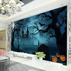 Home Decor Wall Murals halloween horror photo wallpaper pumpkin lamp wallpaper