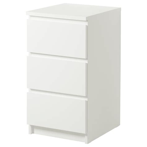 Ikea Malm Chest Of 3 Drawers 40x78cm White Bedroom White Ikea Bedroom Furniture
